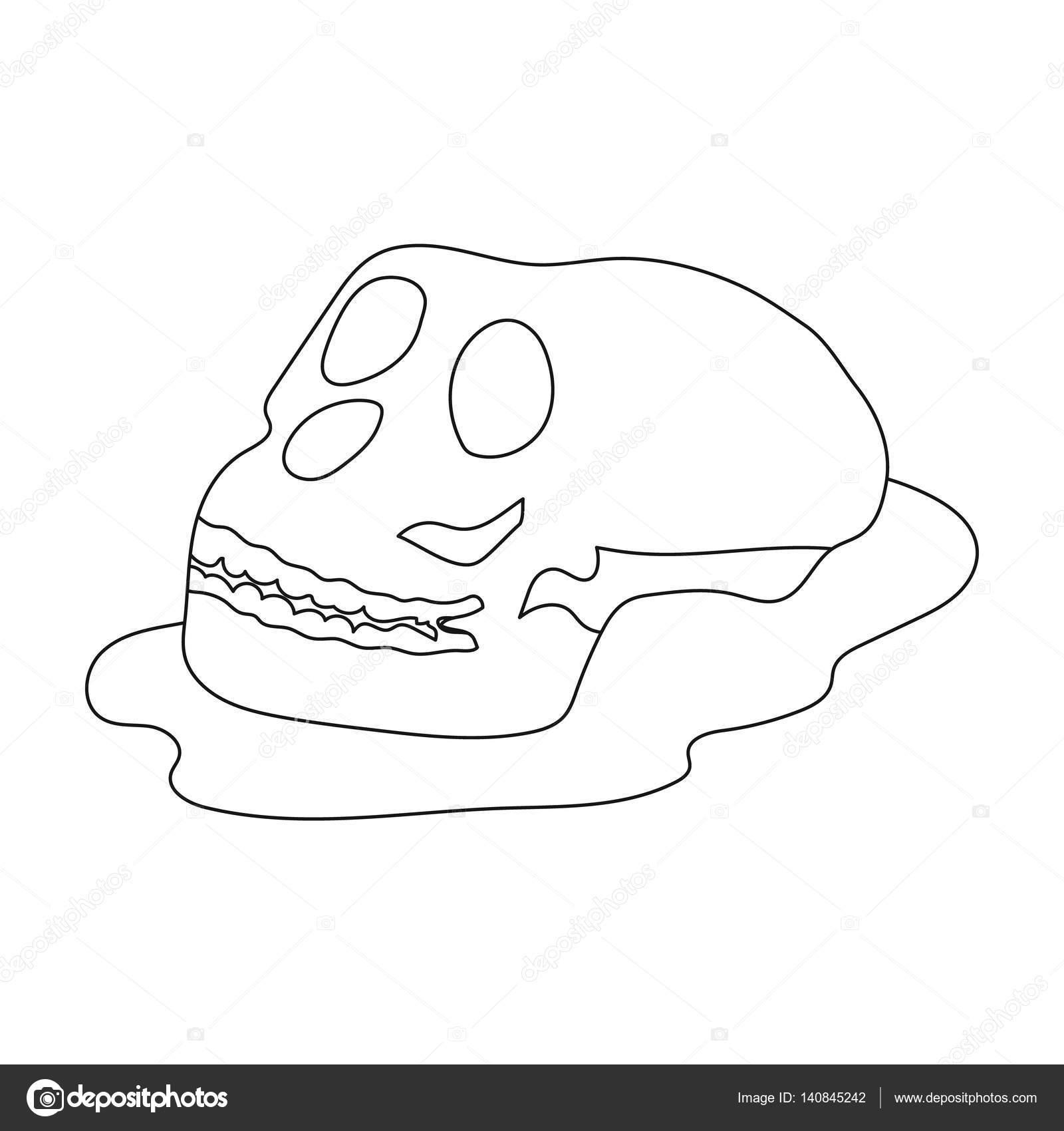 Icono de fósiles humanos en contorno estilo aislado sobre fondo ...