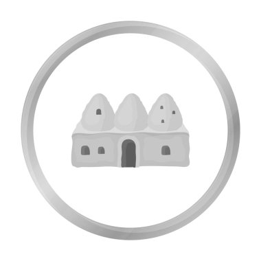 Beehive house icon in monochrome style isolated on white background. Turkey symbol stock vector illustration.