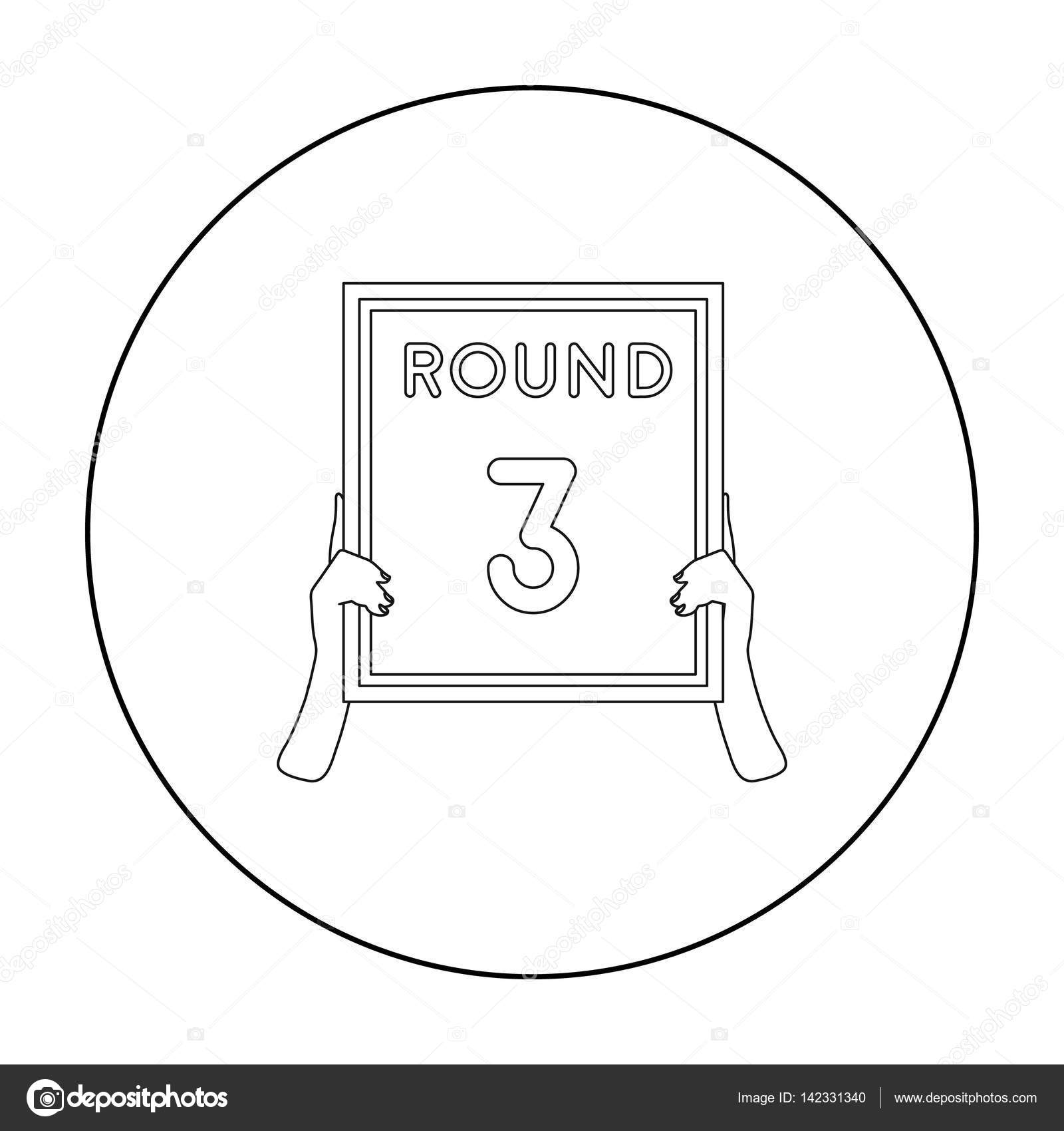 Boxing ring board icon in outline style isolated on white background boxing ring board icon in outline style isolated on white background boxing symbol stock vector ccuart Images
