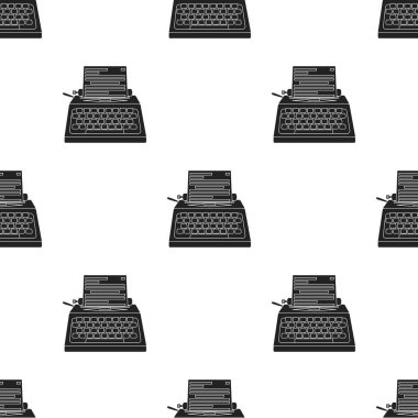 Typewriter icon in black style isolated on white background. Films and cinema pattern stock vector illustration.