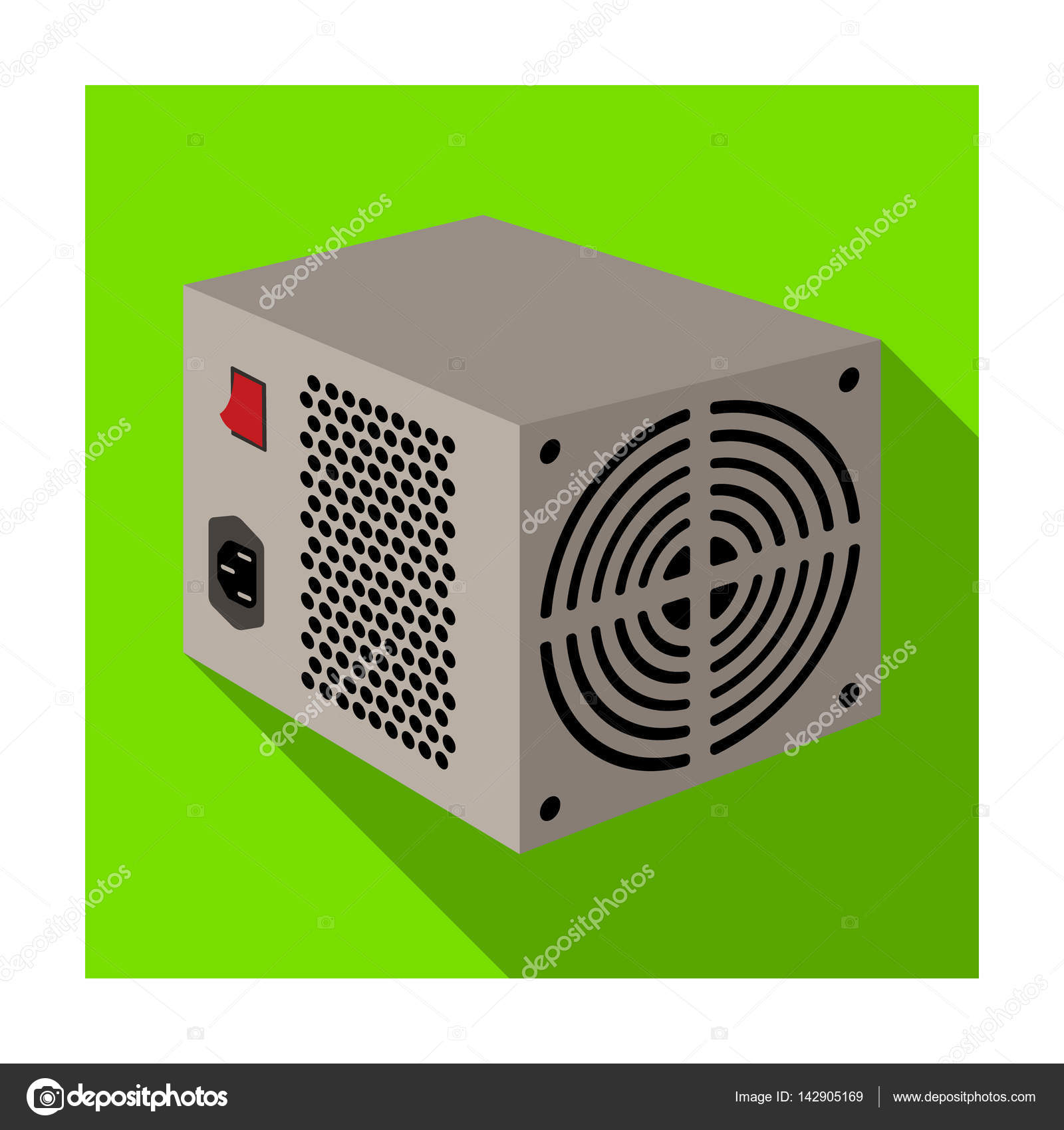 Power supply unit icon in flat style isolated on white background power supply unit icon in flat style isolated on white background personal computer accessories symbol biocorpaavc Choice Image