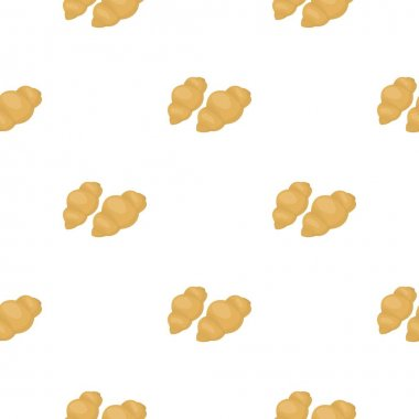 Gnocchi pasta icon in cartoon style isolated on white background. Types of pasta pattern stock vector illustration.