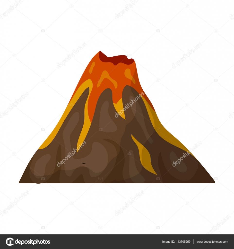 Egy tüzes vulkán. Egy hegy 8918bbff30