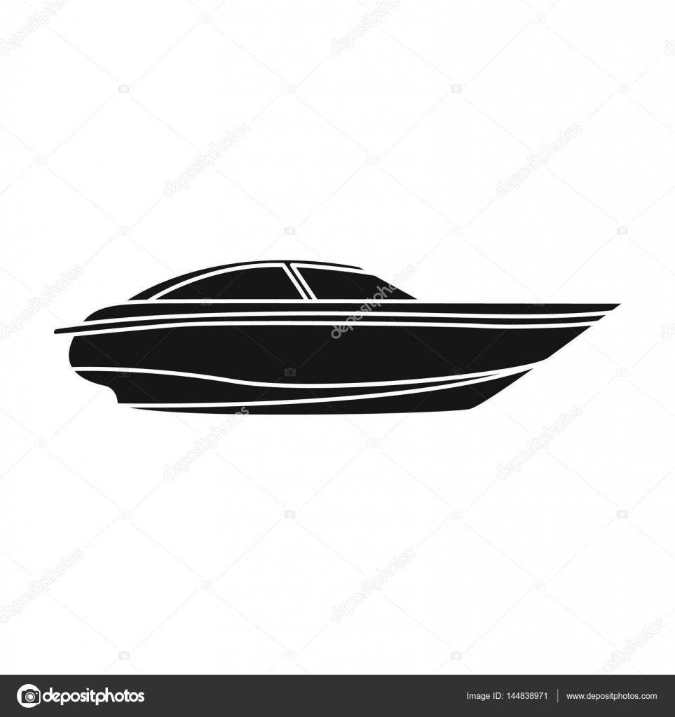Ein kleines weißes Boot mit einem Motor. Boot für Geschwindigkeit ...