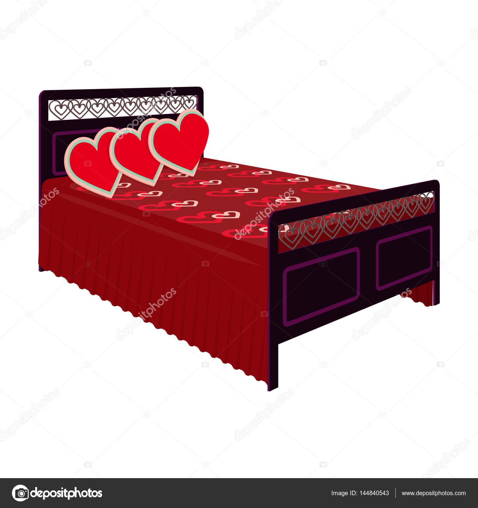 Bella camera da letto con un back.bed di ferro battuto con coperta ...