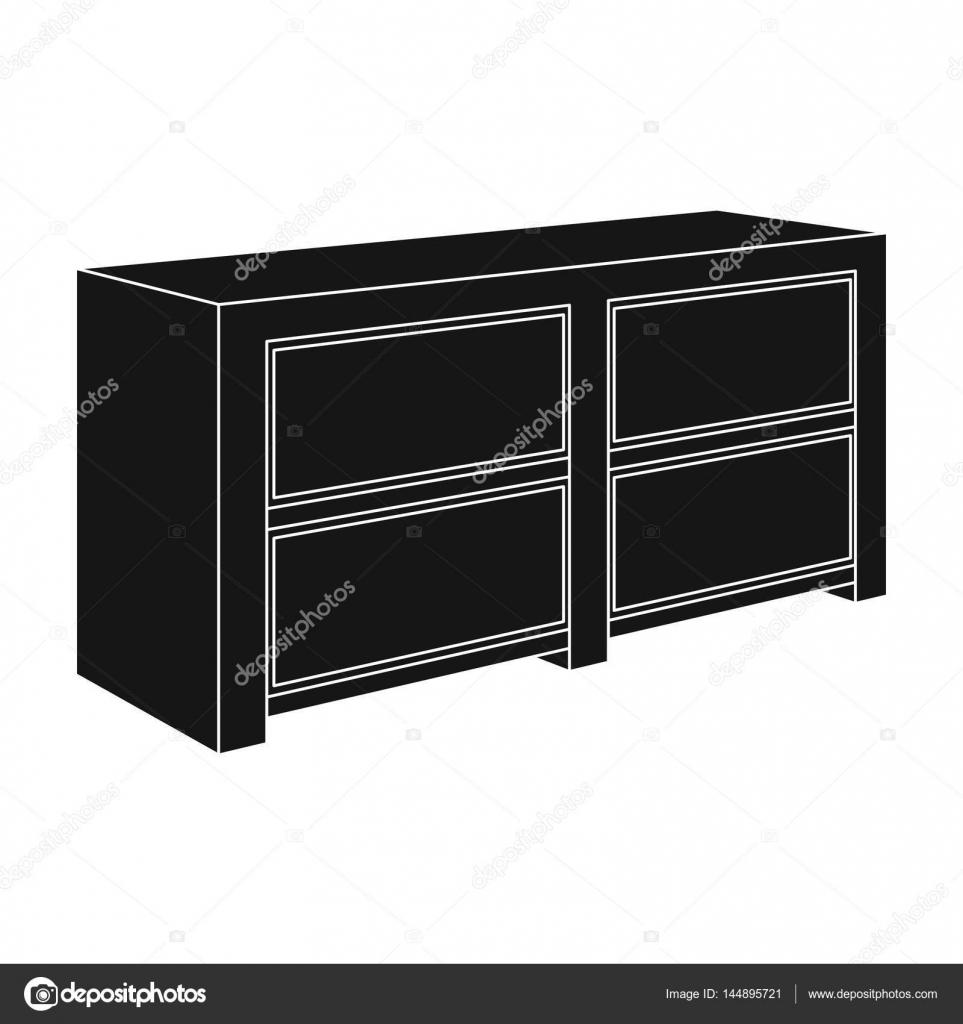 Braune Nachttisch mit Schubladen. Nachttisch neben dem Bett ...
