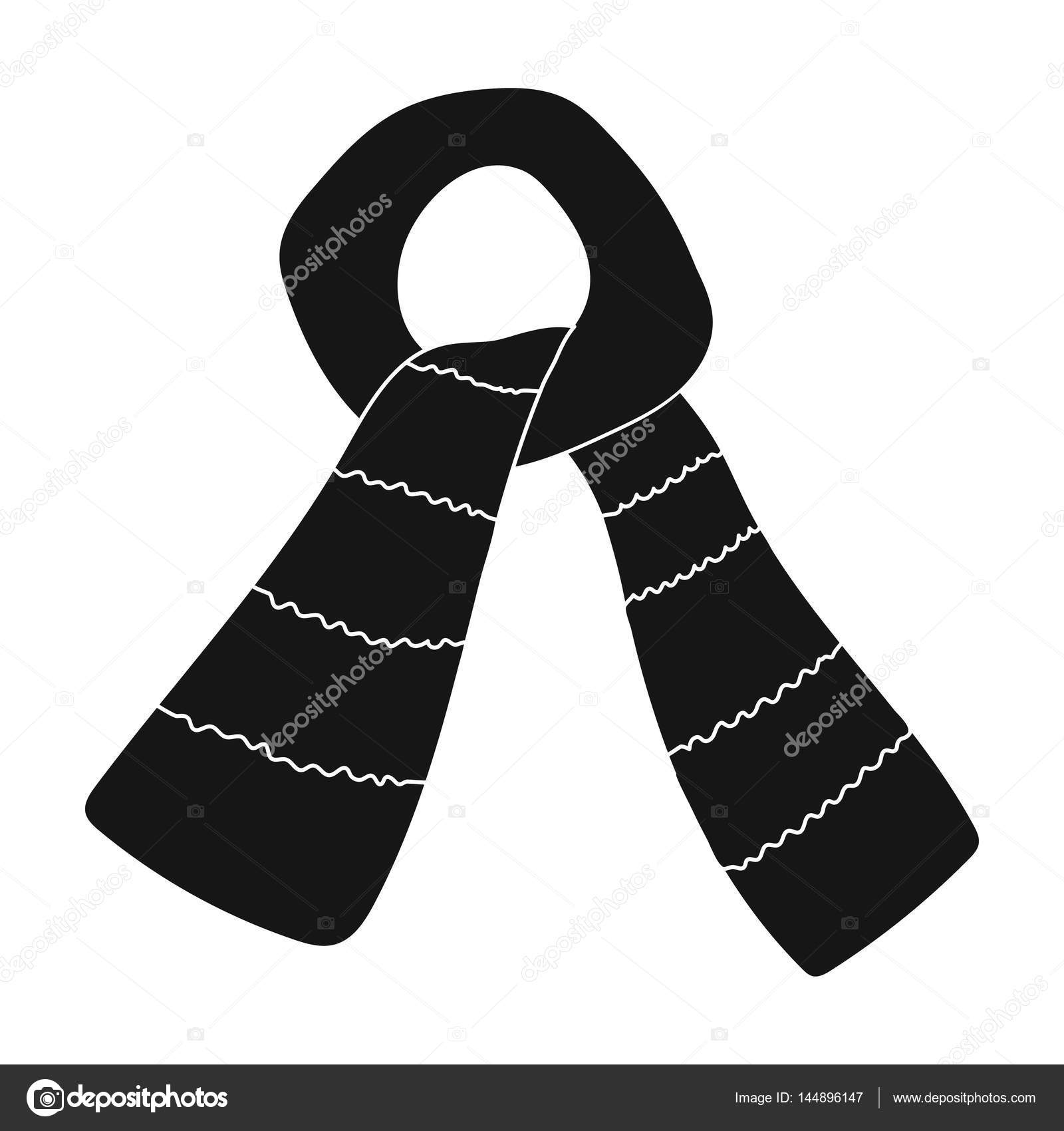 Scarf for boy and girl in cold weather coton green scarfarf scarf for boy and girl in cold weather coton green scarfarf tied in a knotarves and shawls single icon in black style vector symbol stock web biocorpaavc Images