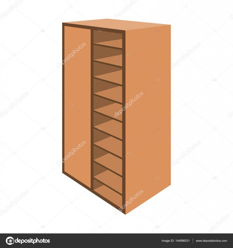 Una librer a de madera marr n con muchos libros en sus for Mueble animado