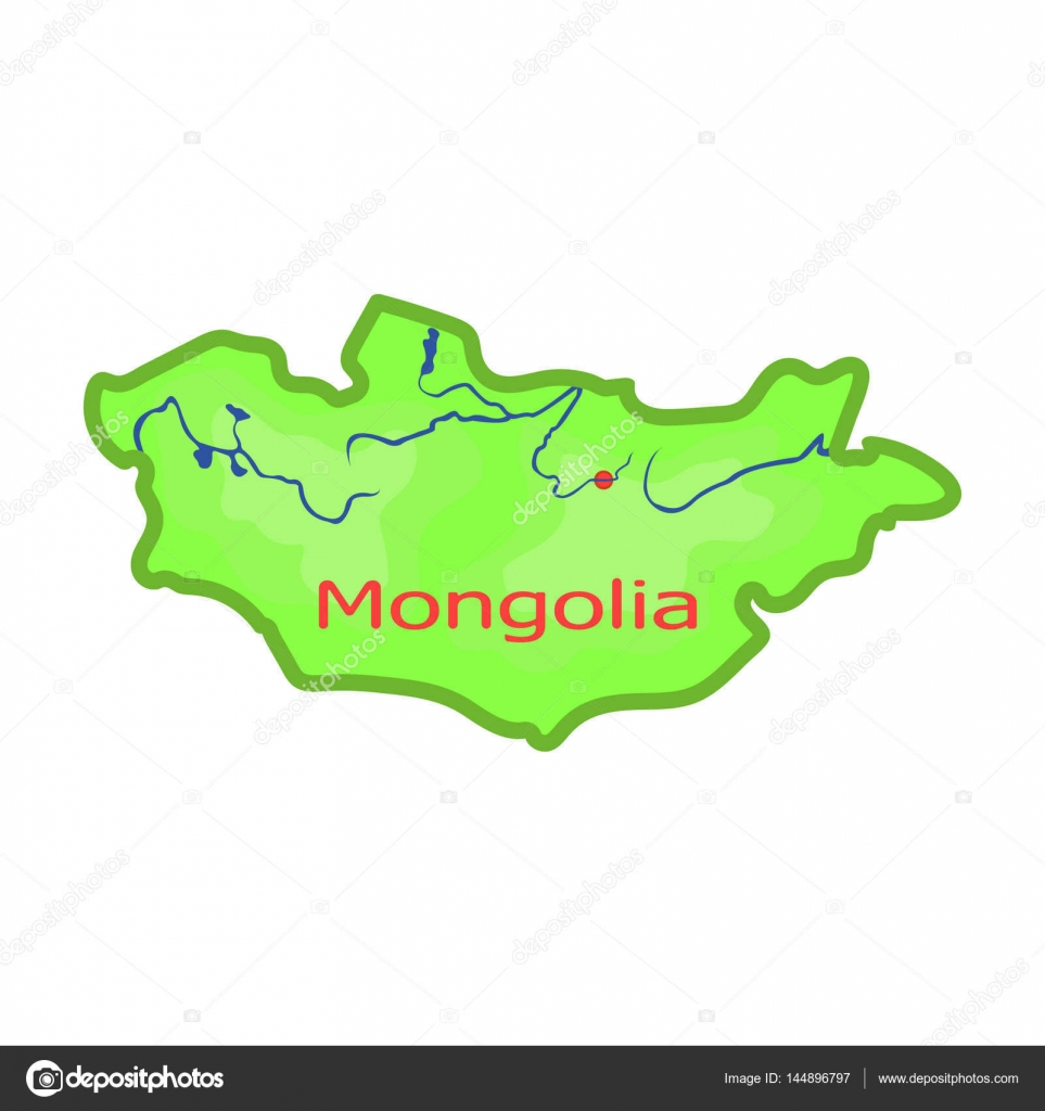 Green map of mongoliangolia on the world mapngolia single icon green map of mongoliangolia on the world mapngolia single icon in cartoon gumiabroncs Gallery