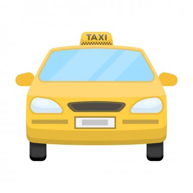 Yellow taxi car.Transport taxis for passengers. Taxi station single icon in cartoon style vector symbol stock illustration.