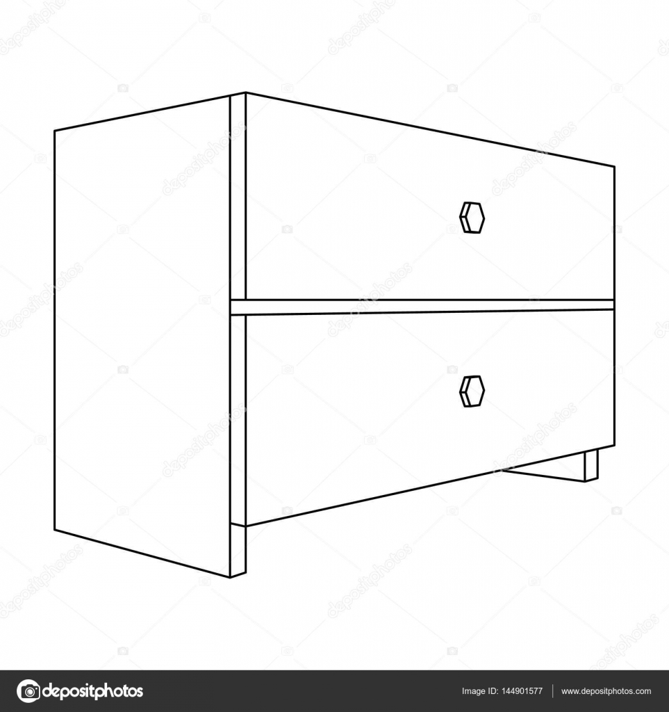 White bedside table with two drawersom accessories for all room accessories for all sorts of thingsdroom furniture single icon in outline style vector symbol stock web illustration vector by pandavector biocorpaavc Gallery