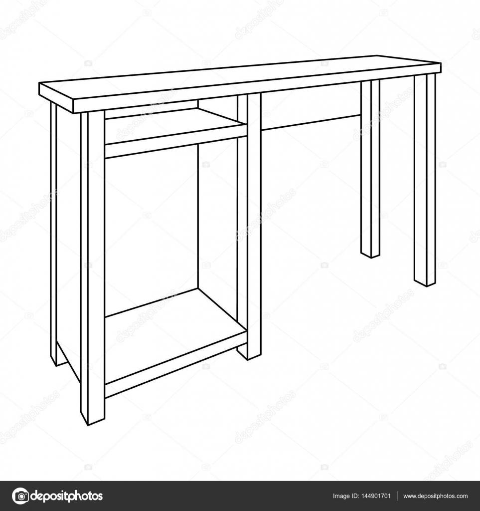 Holztisch Beine. Tabelle zum Zeichnen von Bildern. Tisch mit ...