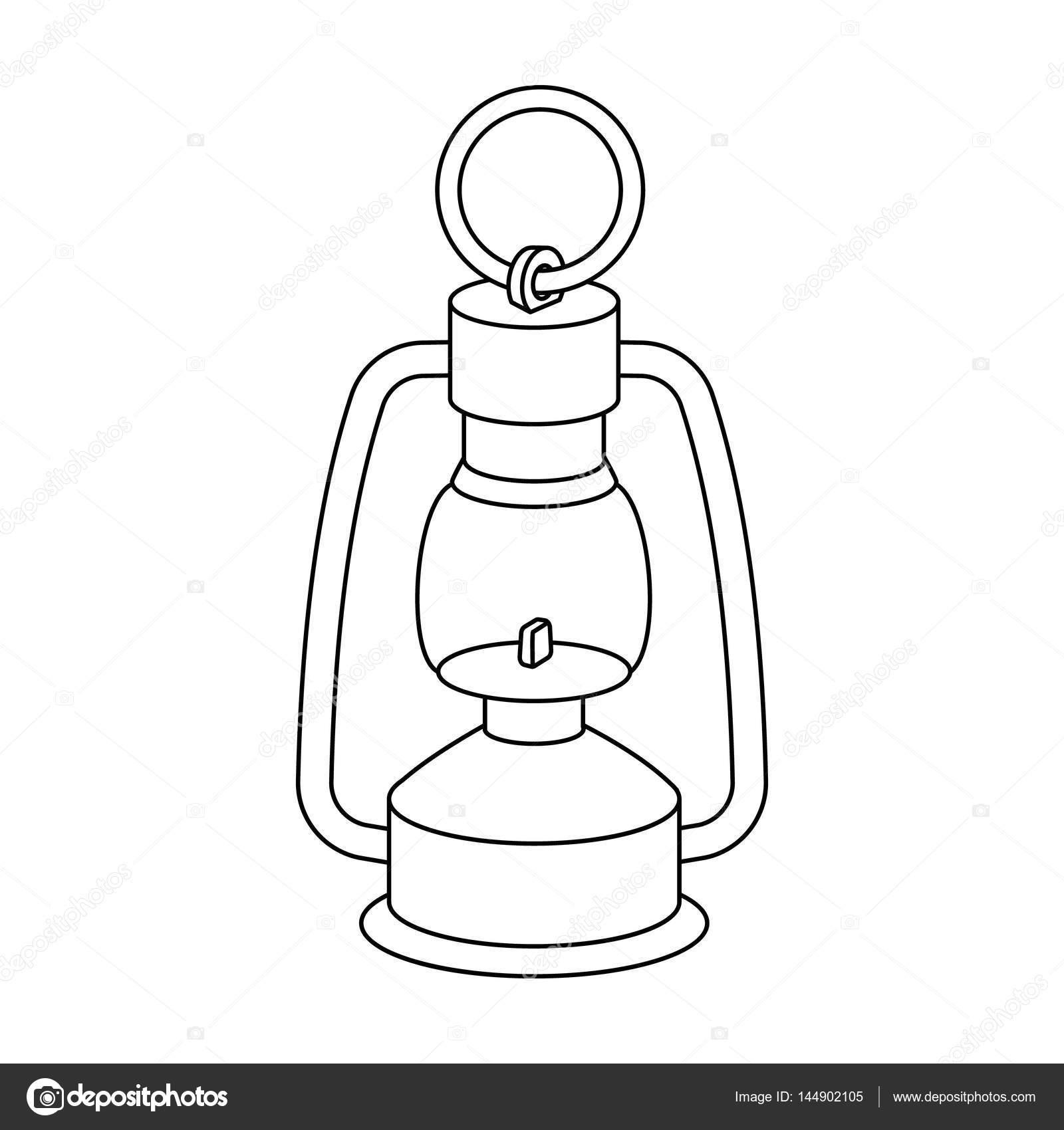 Una lámpara de gas. El dispositivo de iluminación de los mineros ...