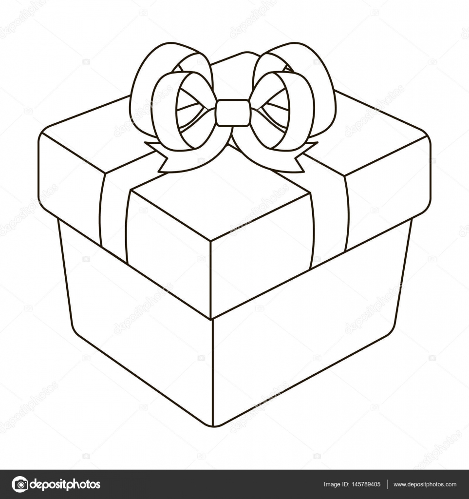 A Blue Gift Box With A Bow Gifts And Certificates Single Icon In