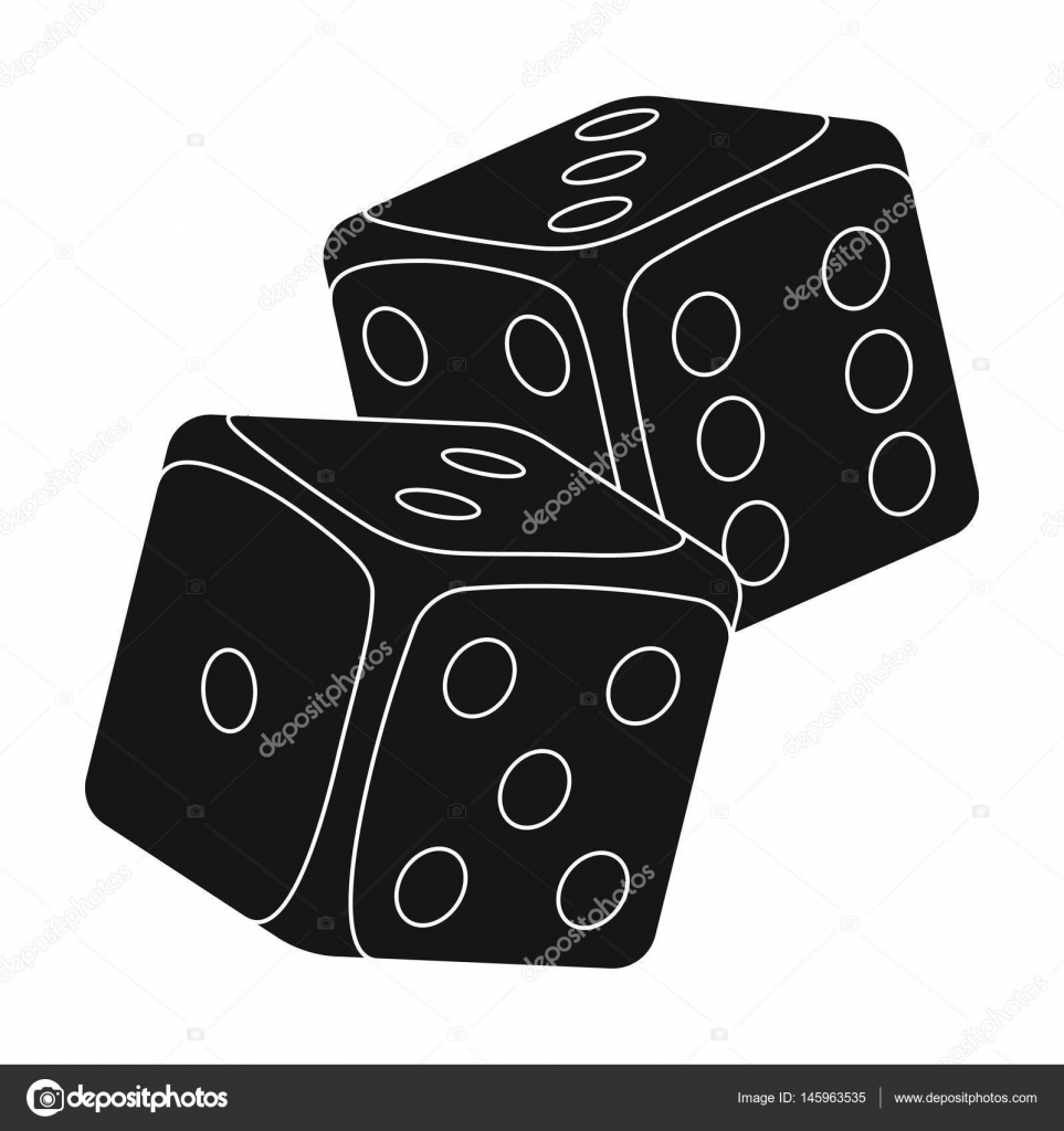 Würfel für Spiele im Casino. Steinen auf dem Tisch als Glücksbringer ...