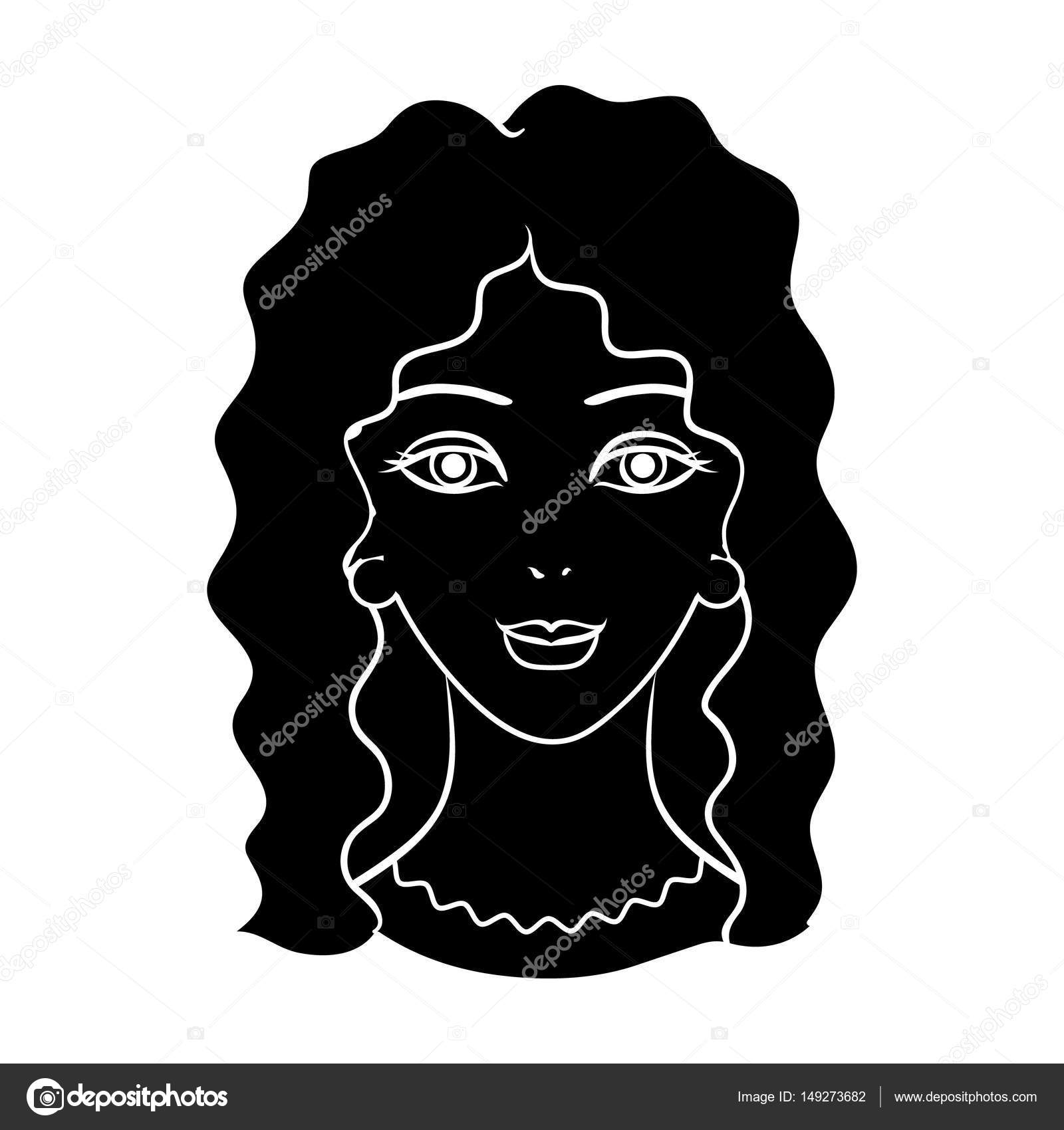 Avatar Of A Woman With Curly Hair Avatar And Face Single Icon In