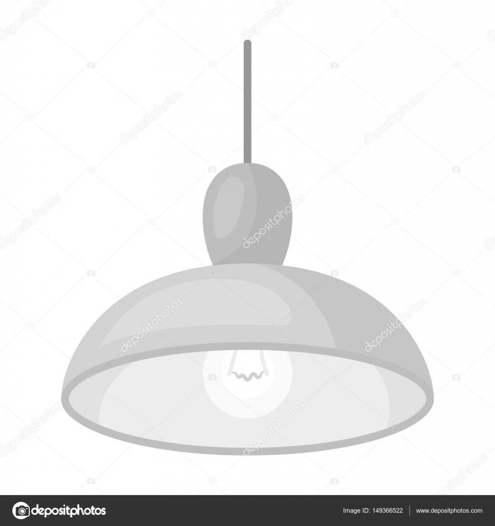 Chandelier with light bulb the light in the bar pub single icon in chandelier with light bulb the light in the bar pub single icon in monochrome arubaitofo Image collections