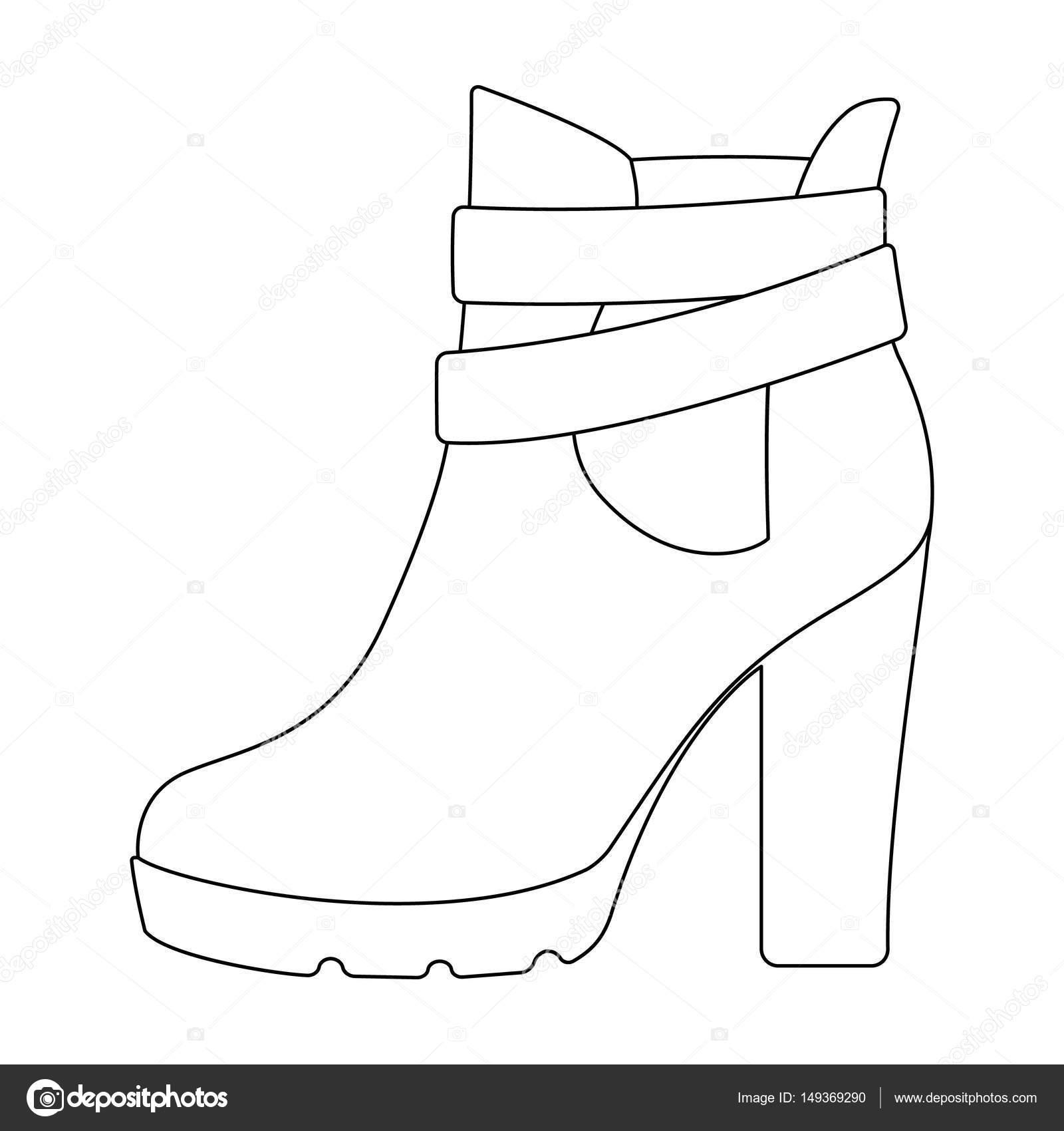 Imágenes Tacones Altos Para Colorear Zapatos De Mujer Alta Rojo