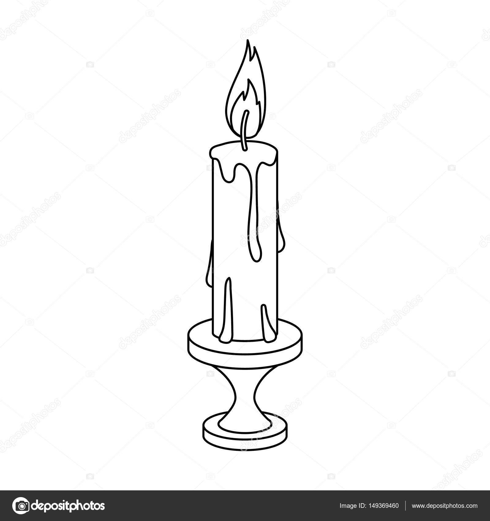 quema de velas de cera de parafina. Solo icono de Pascua en la ...