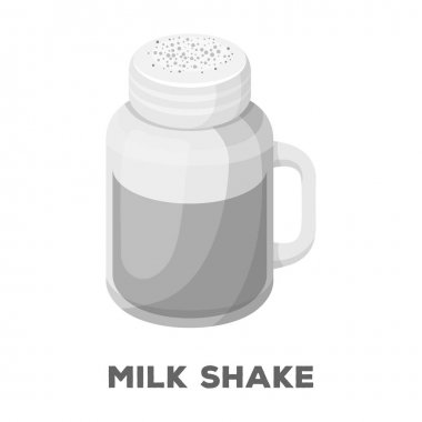 Milk shake.Different types of coffee single icon in monochrome style vector symbol stock illustration web.