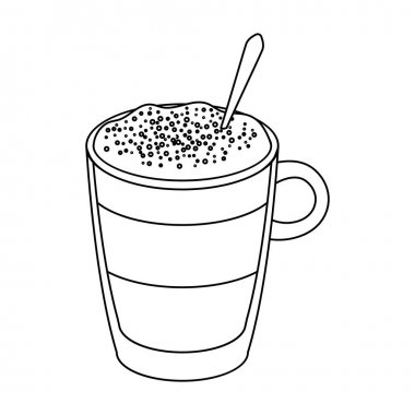 A cup of latte.Different types of coffee single icon in outline style vector symbol stock illustration web.