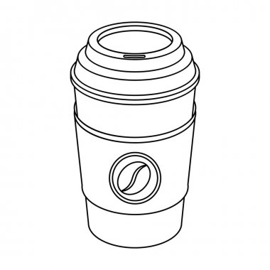 A cup of coffee to takeaway.Different types of coffee single icon in outline style vector symbol stock illustration web.