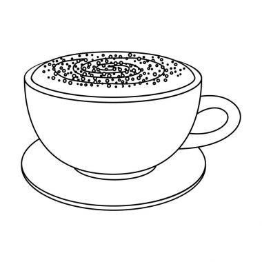 Cup of cappuccino.Different types of coffee single icon in outline style vector symbol stock illustration web.