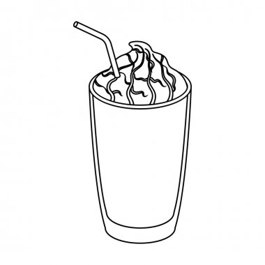 A glass of frappe.Different types of coffee single icon in outline style vector symbol stock illustration web.