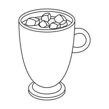 A cup of hot chocolate.Different types of coffee single icon in outline style vector symbol stock illustration web.