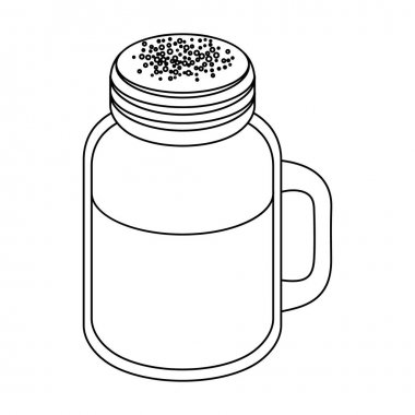 milk shake.Different types of coffee single icon in outline style vector symbol stock illustration web.