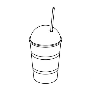Latte for take-away.Different types of coffee single icon in outline style vector symbol stock illustration web.