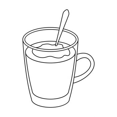 Cup of cocoa.Different types of coffee single icon in outline style vector symbol stock illustration web.