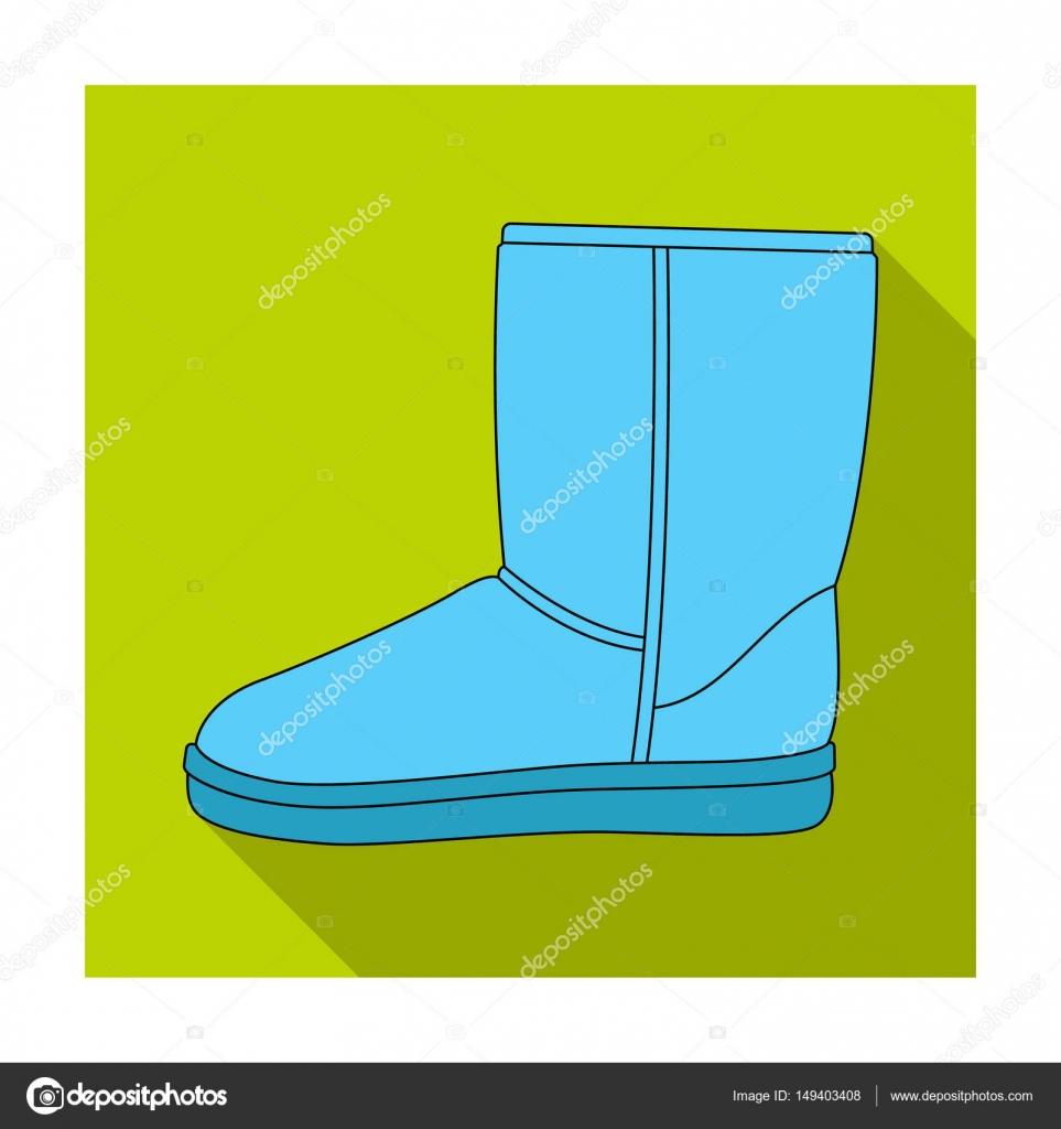 Stivali ugg inverno caldo blu. Scarpe invernali comode da
