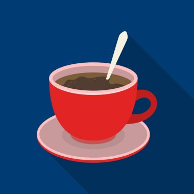 Coffee cup americano.Different types of coffee single icon in flat style vector symbol stock illustration web.