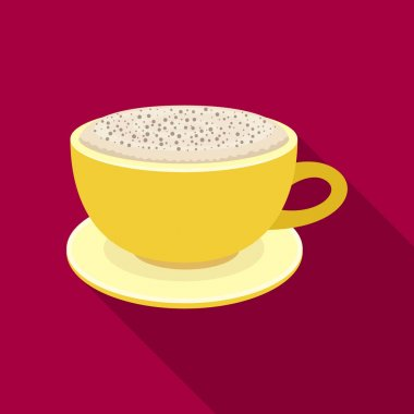 Cup of cappuccino.Different types of coffee single icon in flat style vector symbol stock illustration web.
