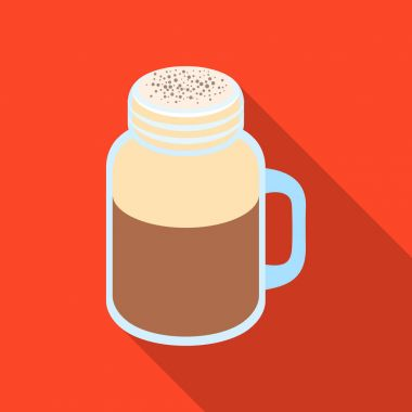 Milk shake.Different types of coffee single icon in flat style vector symbol stock illustration web.