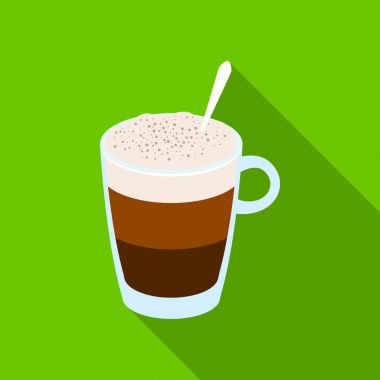 A cup of latte.Different types of coffee single icon in flat style vector symbol stock illustration web.