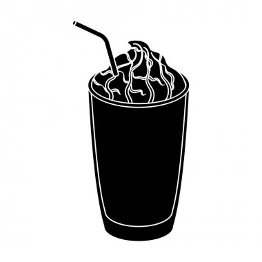 A cup of coffee to takeaway.Different types of coffee single icon in black style vector symbol stock illustration web.