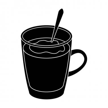 Bicerin coffee.Different types of coffee single icon in black style vector symbol stock illustration web.