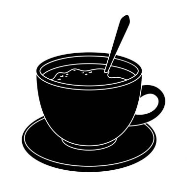 Coffee cup americano.Different types of coffee single icon in black style vector symbol stock illustration web.
