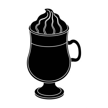 Cup of Irish coffee.Different types of coffee single icon in black style vector symbol stock illustration web.