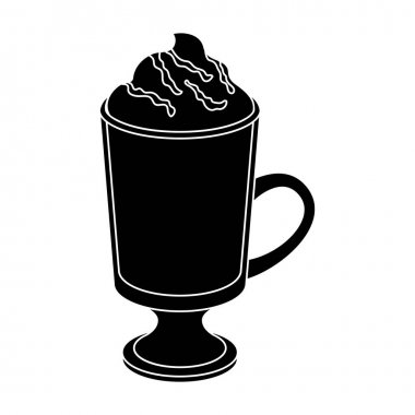A cup of mocha with foam.Different types of coffee single icon in black style vector symbol stock illustration web.