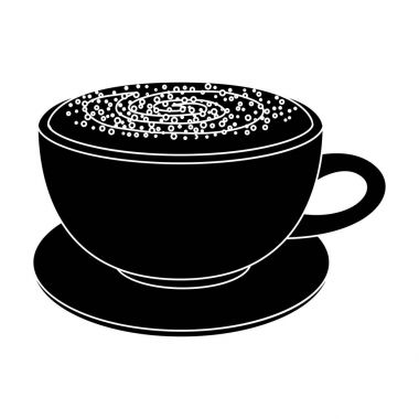 Cup of cappuccino.Different types of coffee single icon in black style vector symbol stock illustration web.