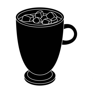 A cup of hot chocolate.Different types of coffee single icon in black style vector symbol stock illustration web.