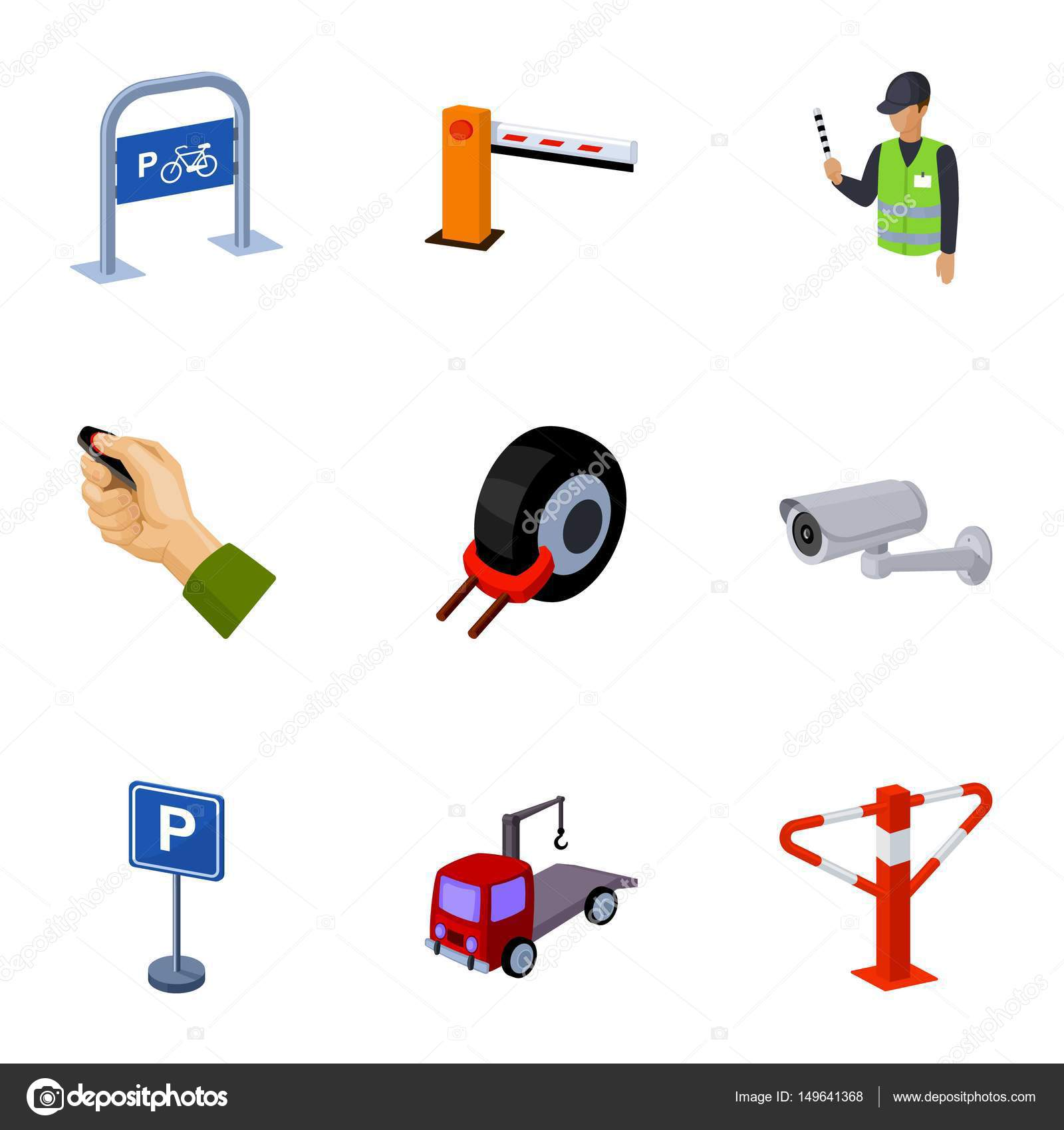 A set of icons for parking cars and bicycles fines and elements a set of icons for parking cars and bicycles fines and elements of parking parking zone icon in set collection on cartoon style vector symbol stock web buycottarizona