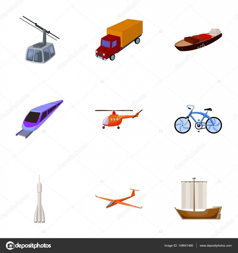 Set of pictures about types of transport  Transportation of