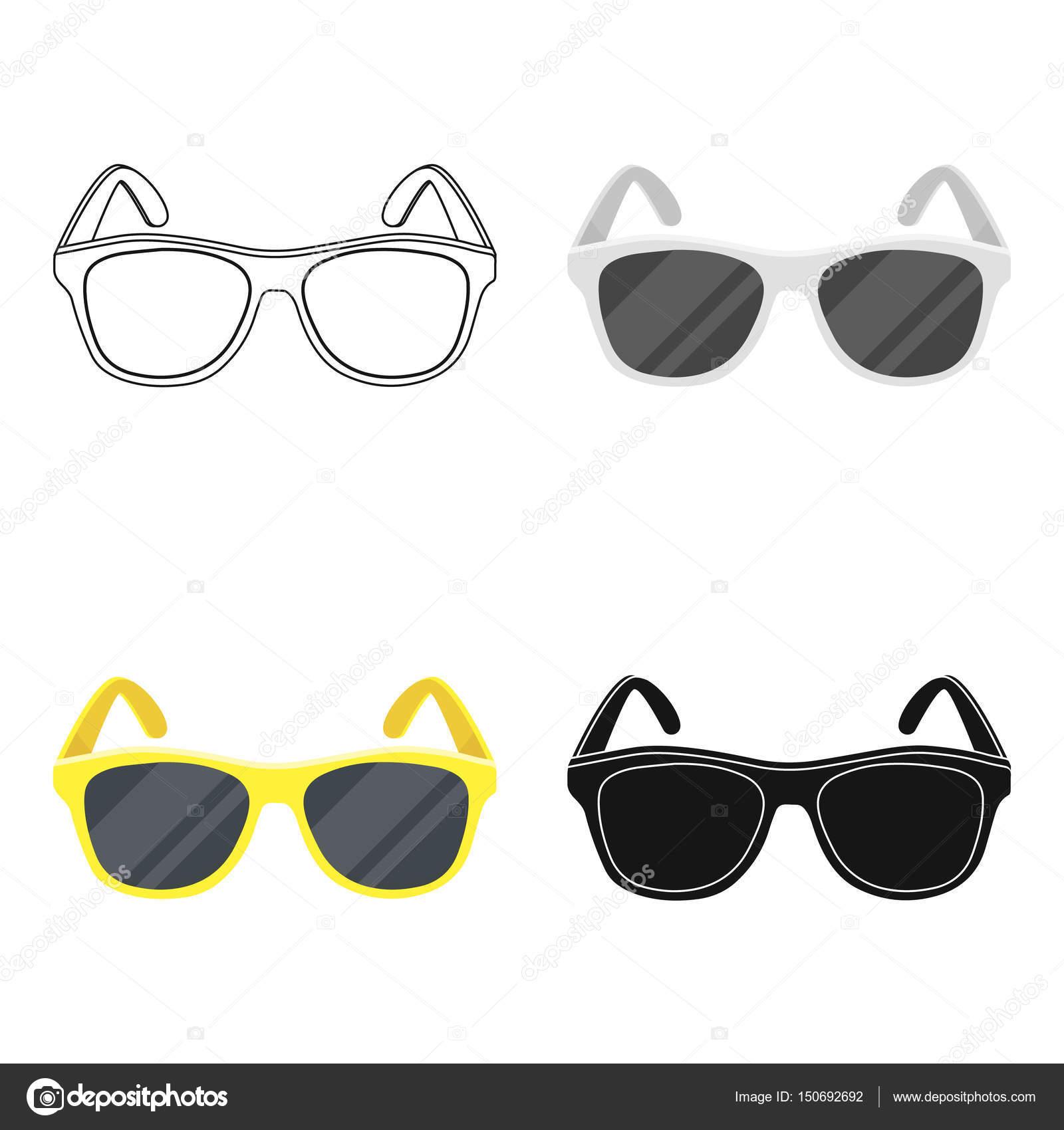 Dessin Lunettes De Soleil icône jaune lunettes de soleil dernier cri dans le style de dessin