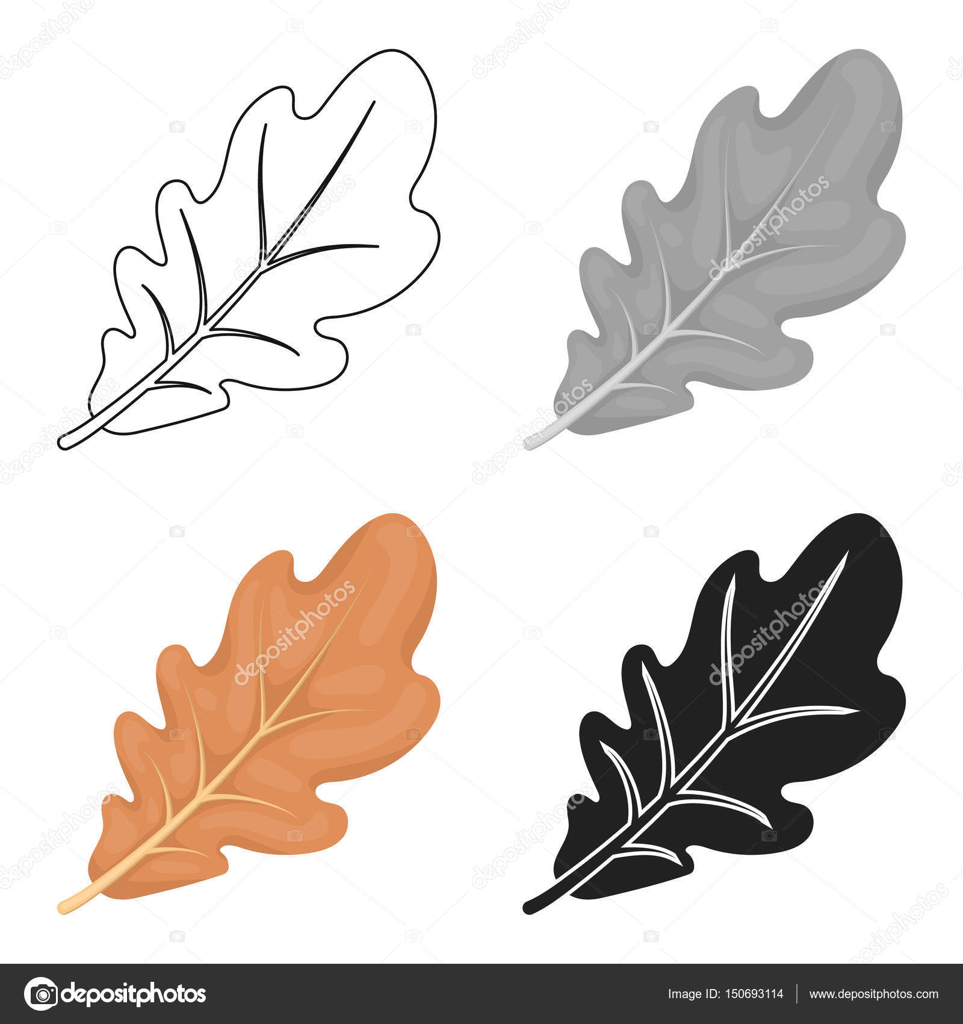 Oak leaf icon in cartoon style isolated on white background oak leaf icon in cartoon style isolated on white background canadian thanksgiving day symbol stock biocorpaavc Choice Image