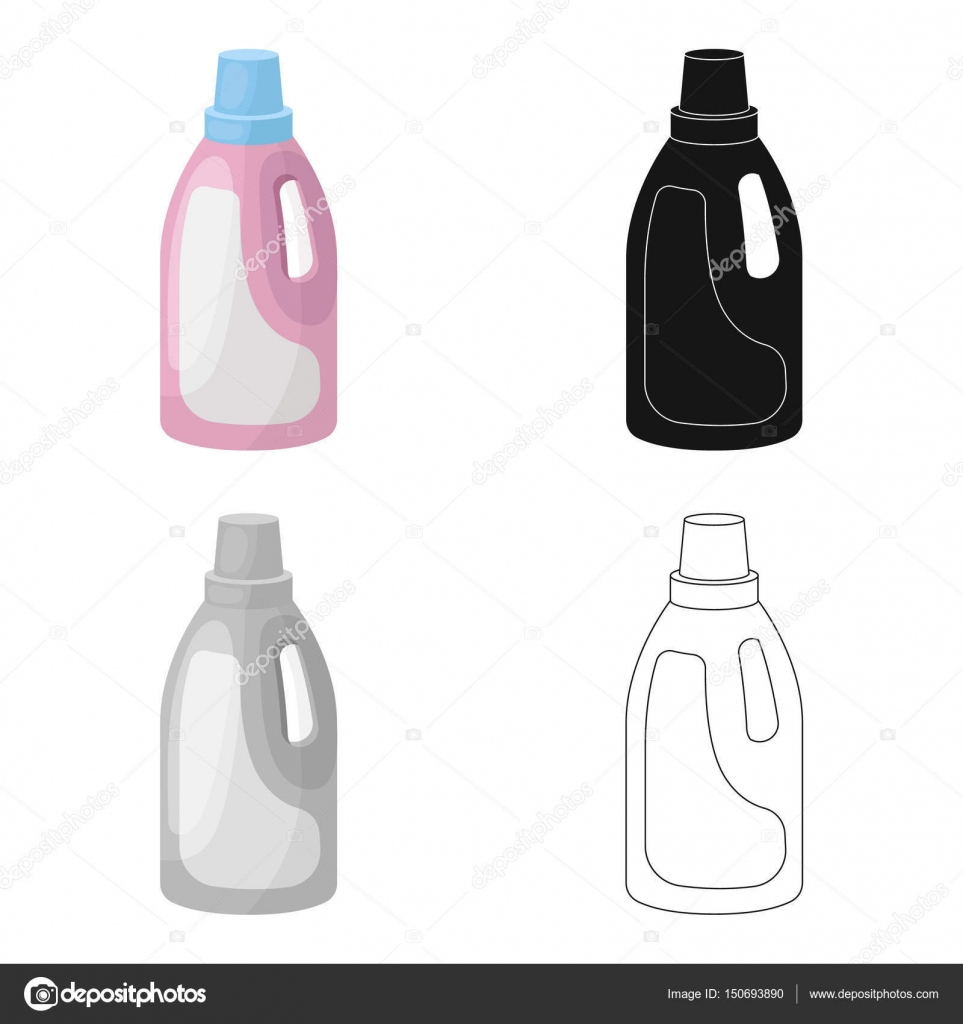 Laundry Detergent Icon In Cartoon Style Isolated On White Background Cleaning Symbol Stock Vector Illustration