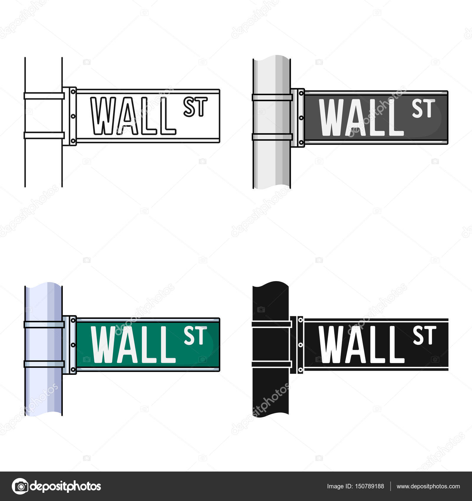 Cone de sinal de wall street em estilo cartoon isolado no fundo cone de sinal de wall street em estilo cartoon isolado no fundo branco ilustrao ccuart Gallery